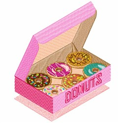 Box Of Donuts embroidery design