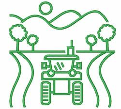 Farm Scene Outline embroidery design