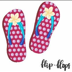 Summer Flip Flops embroidery design