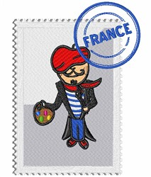 French Painter Stamp embroidery design