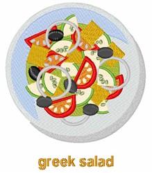 Greek Salad embroidery design