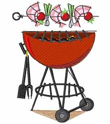 Grilling Shish-Ka-Bobs embroidery design