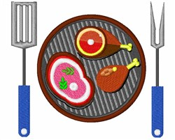 Grilling Meats embroidery design