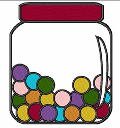 Jar Of Candy embroidery design