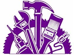 Carpenters Tool Logo embroidery design