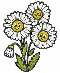 Kawaii Daisies embroidery design