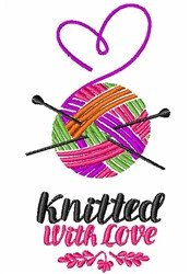 Knitted With Love embroidery design