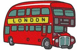 London Double Decker embroidery design