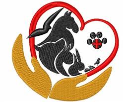 Veterinary Logo embroidery design