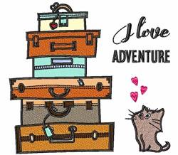 I Love Adventure embroidery design