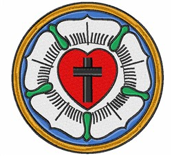 Lutheran Symbol embroidery design