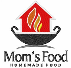 Moms Food embroidery design