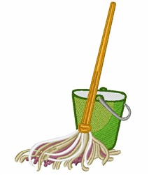 Mop & Bucket embroidery design