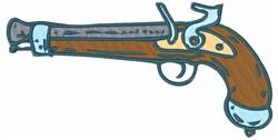 Vintage Pistol embroidery design