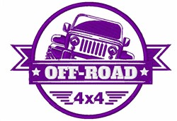 Off-Road 4x4 embroidery design