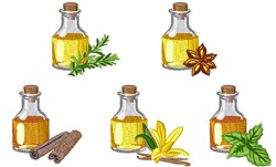 Scented Oils embroidery design