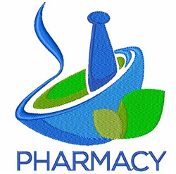 Pharmacy embroidery design