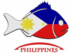 Philippines Fish embroidery design