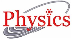 Physics embroidery design