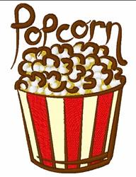 Tub Of Popcorn embroidery design