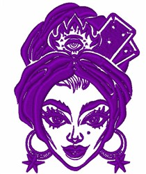 Gypsy Woman embroidery design