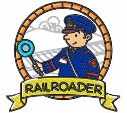 Railroader embroidery design