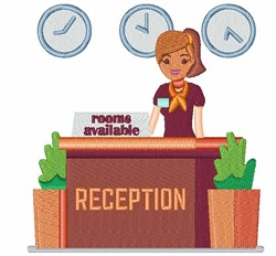 Hotel Reception embroidery design