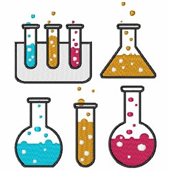 Beakers & Test Tubes embroidery design