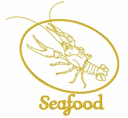 Seafood embroidery design