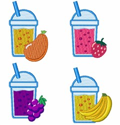 Healthy Fruit Smoothies embroidery design