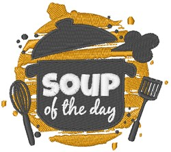 Soup Of The Day embroidery design