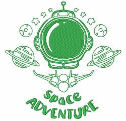 Space Adventure embroidery design