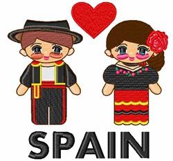 Kawaii Spanish Couple embroidery design