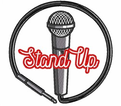 Stand Up Microphone embroidery design