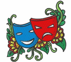 Theater Masks embroidery design