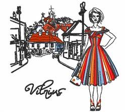 Vilnius Sketch embroidery design