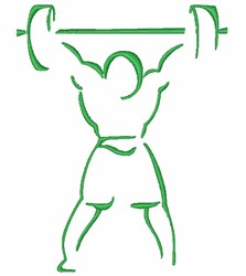 Weightlifter Outline embroidery design