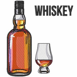 Whiskey Bottle embroidery design