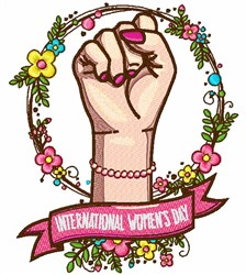 International Womens Day embroidery design