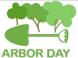 Arbor Day Trees embroidery design
