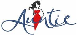 Auntie embroidery design