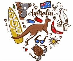 Love Australia embroidery design
