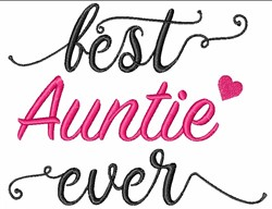 Best Auntie Ever embroidery design