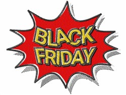 Black Friday embroidery design