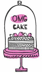 OMG Cake embroidery design