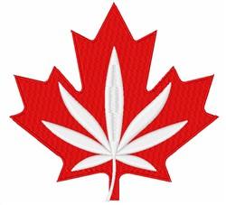 Maple & Marijuana Leaf embroidery design