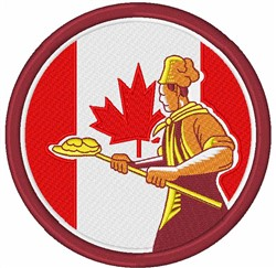 Canadian Baker embroidery design