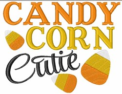 Candy Corn Cutie embroidery design