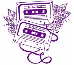 Cassette Tape Outline embroidery design
