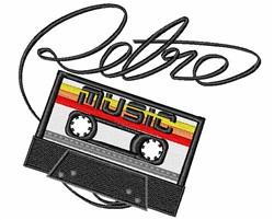 Retro Music embroidery design